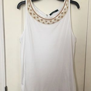 Ralph Lauren beaded neck tank